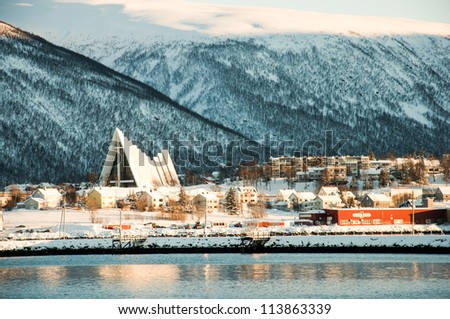 View of the Tromso city