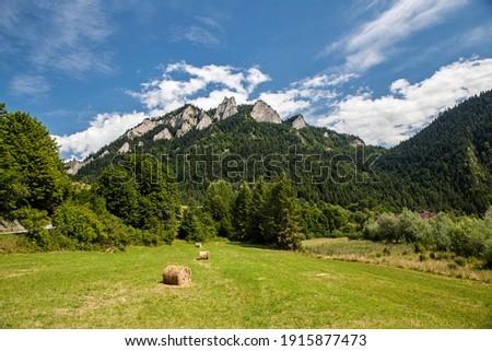 View of the Trzy Korony peak in Pieniny, Poland Zdjęcia stock ©