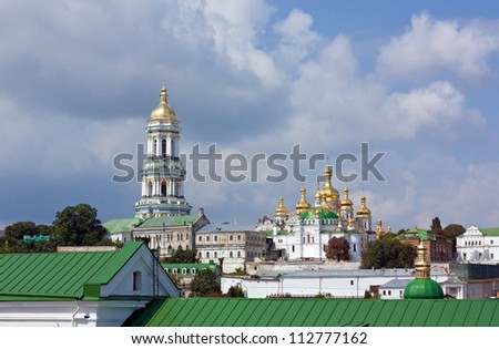 View of the upper part of the Kiev-Pechersk Lavra Church