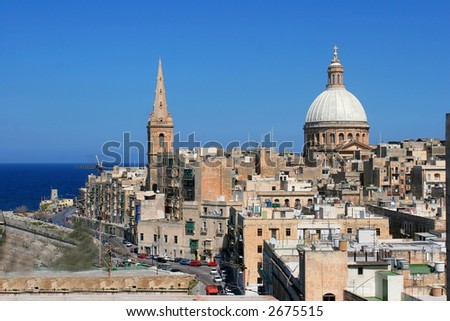 View of the Valleta city, Malta