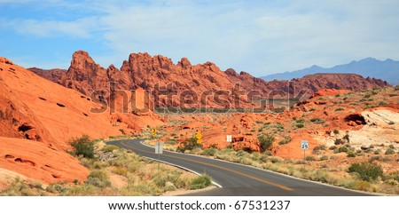 View of the Valley of Fire State Park in Nevada.