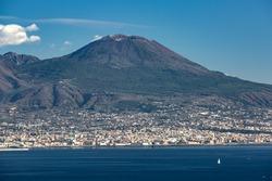 View of the Vesuvius mount