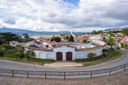 view of the village of Guatavita, Cundinamarca, Colombia