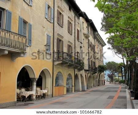 view  of the village of Morcote, Lake of Lugano, Switzerland