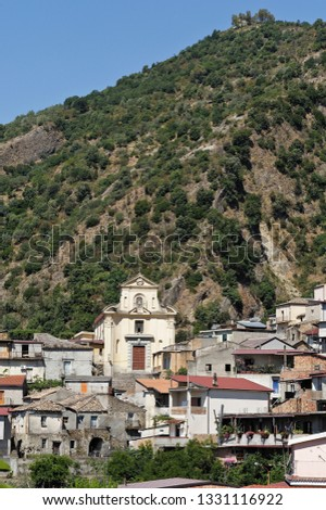View of the village of San Luca, district of Reggio Calabria, Calabria, Italy #1331116922