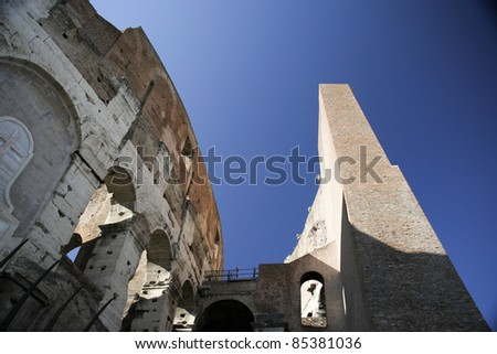 View of the wall of the Colosseum - Rome - Italy