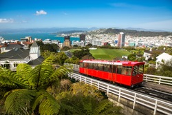 View of the Wellington Cable Car.