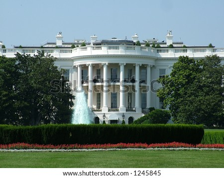 View of the White House in Washington DC