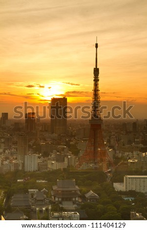 View of Tokyo City before sunset time