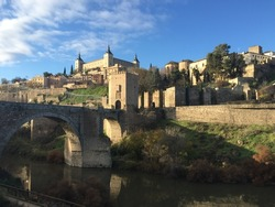 View of Toledo, Spain in the morning
