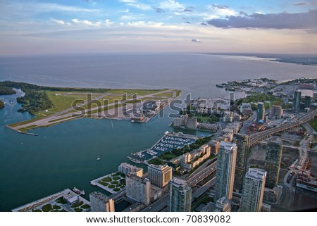 View of Toronto city from above