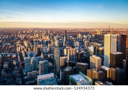 View of Toronto City from above - Toronto, Ontario, Canada