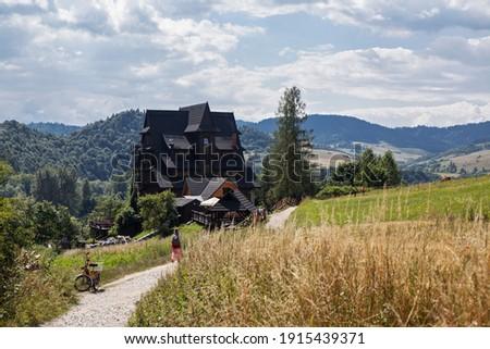 View of Trzy Korony mountain hut in Pieniny, Poland Zdjęcia stock ©