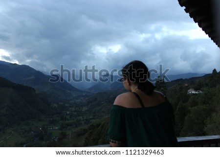 View of Valle de cocoras in Colombia #1121329463