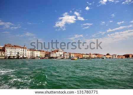 View of Venice from sea