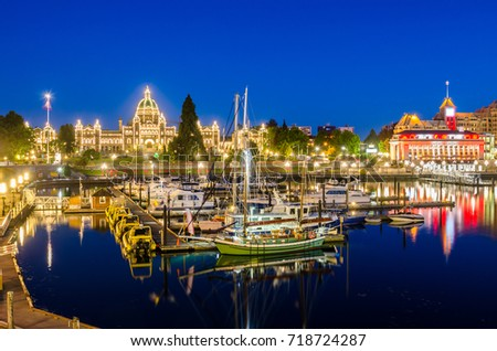 view of victoria inner harbour...