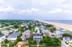 View of Virginia Beach Homes and Beach from the Sky