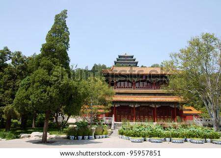 View of Wanchun pavilion from Jingshan Park