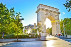 View of Washington Square Park in New York City