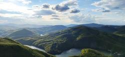 View of water reservoir Ruzin in Slovakia - Sunset