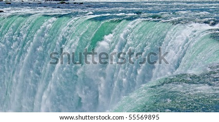 View of waterfalls in Canada