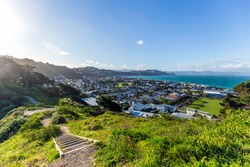 View of Wellington landscape from Fort Dorset in New Zealand