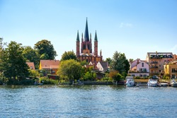 View of Werder on Havel in Brandenburg, Germany