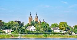 View of Wesseling, Rhine-Erft, North Rhine-Westphalia, Germany, Europe