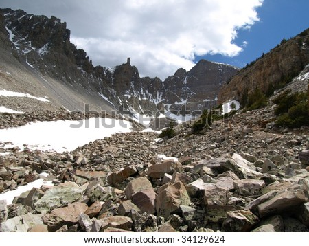 View of Wheeler Peak in Great Basin National Park, Nevada, USA.