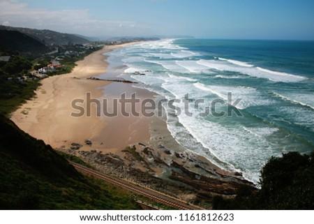 View of Wilderness Beach, Wilderness, Western Cape, South Africa #1161812623