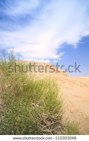 view of Xinjiang desert,Western China