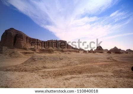 view of Xinjiang desert,Western China