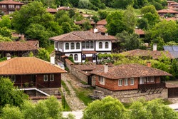 View of Zheravna (Jeravna). The village is an architectural center of Bulgarian National Revival period (18th and 19th century)