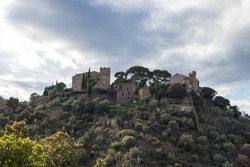 View on a Cathar castle