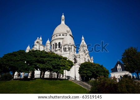 View on Basilique of Sacre Coeur, Montmartre, Paris, France