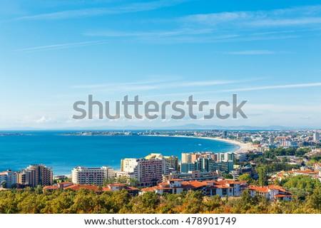 View on bay of Sunny beach resort, Nessebar, Bulgaria