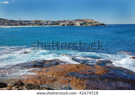View on Bondi Beach in Sydney