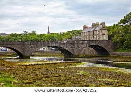 View on bridge over Wick River, Wick, Scotland