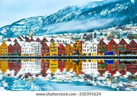 view on Bruges. Bergen Norway