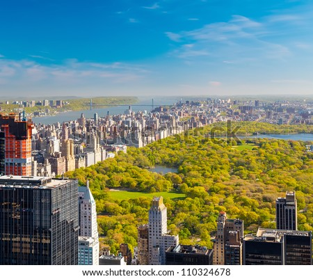 View on central park in New York