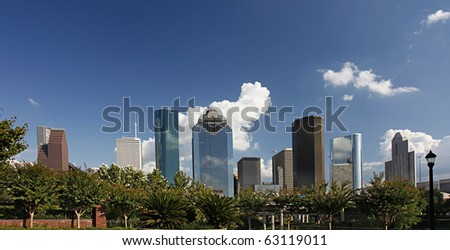 View on City Skyline, Houston, Texas