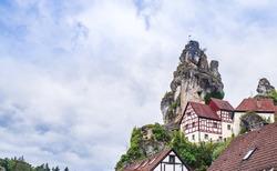 View on Cityscape of Tüchersfeld in franconia switzerland, Germany