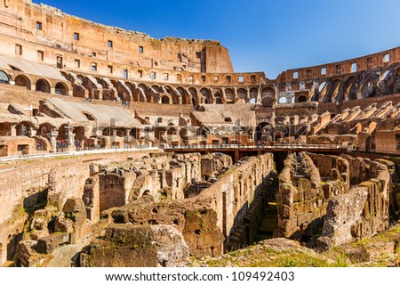 View on Coliseum in Rome, Italy