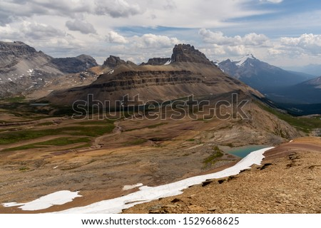 View on Dolomite Peak from Cirque Peak, Canada