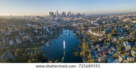 View on Echo Park, Los Angeles #725689591