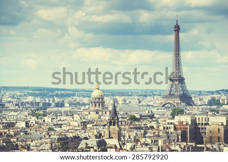 View on Eiffel Tower, Paris, France #285792920