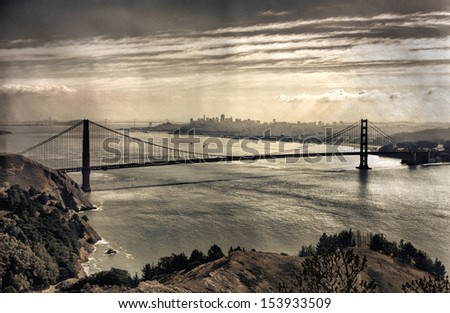 view on golden gate bridge and...