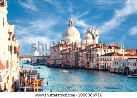View on Grand canal in venice from Academia bridge #1060006916