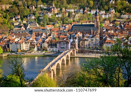 View on Heidelberg at spring, Germany