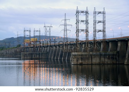 View on hydroelectric power station
